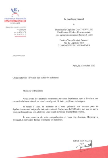 CARTES FEDERALES - COURRIER FNSPF