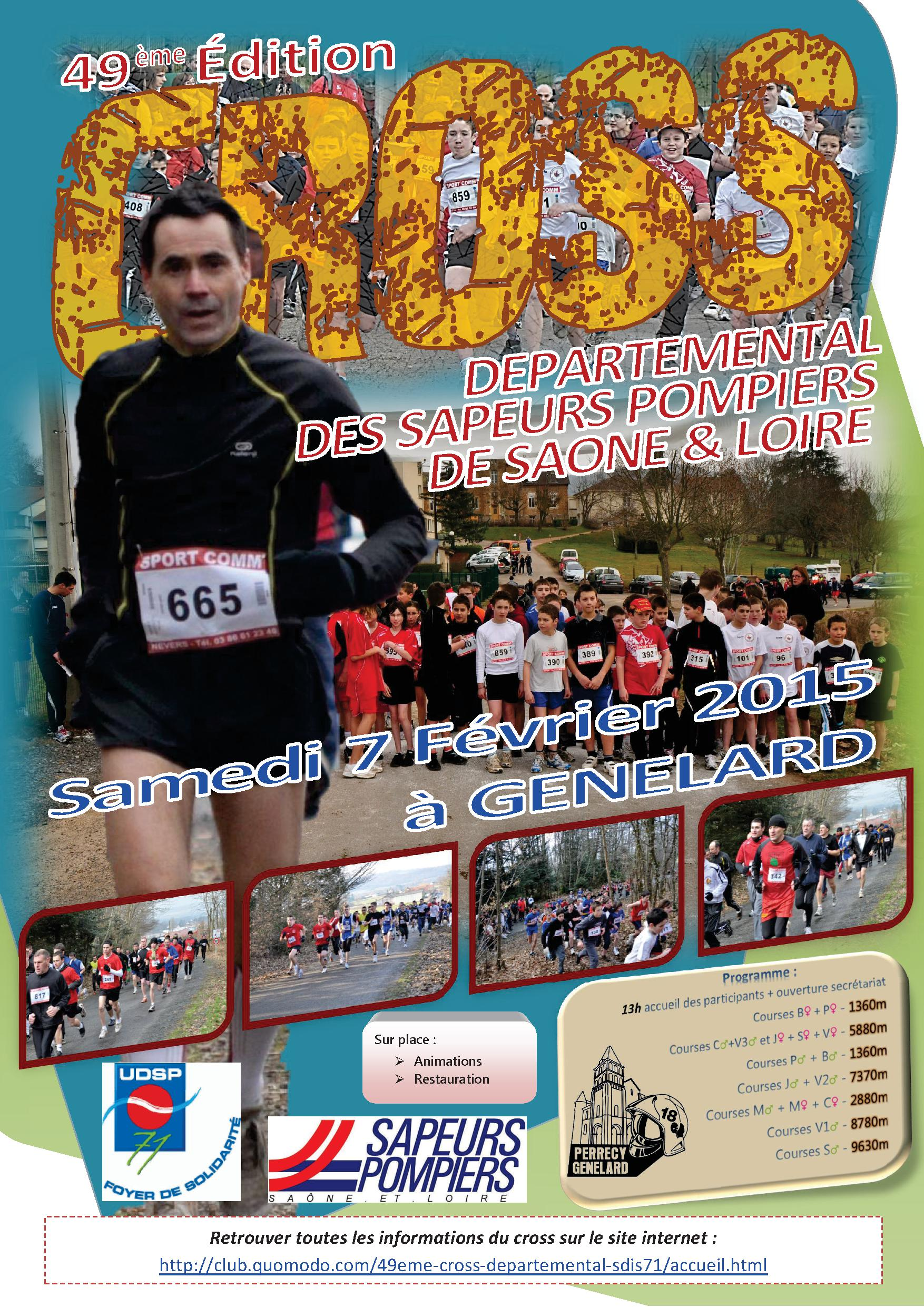 affiche 49ème cross departemental 2015