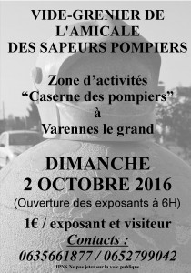 affiche simple brocante