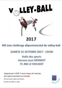 affiche volley 2017 - Le Creusot